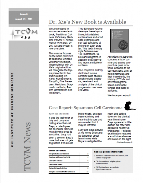 Issue 3, Fall 2003